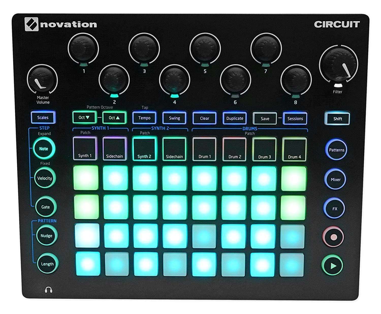 Amazon.com: Novation CIRCUIT Groove Box Music Pad/Drum Controller+ on