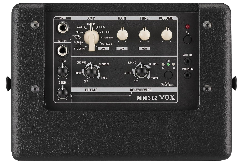 VOX Mini 3 G2 - Amplificador de guitarra, color negro: Amazon.es: Instrumentos musicales