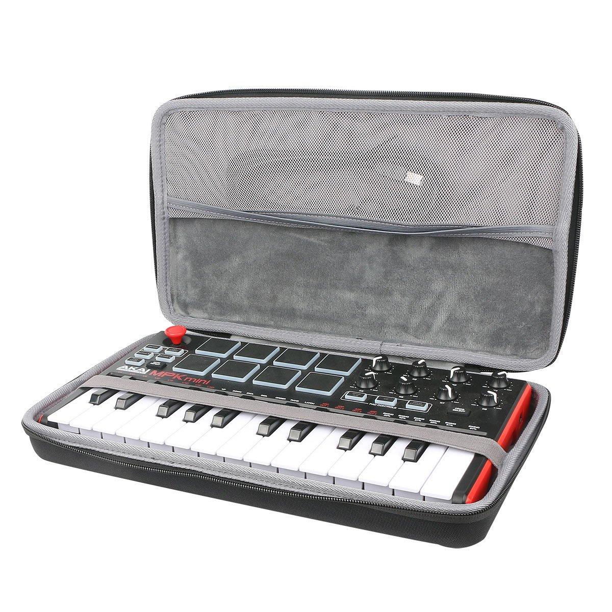 co2crea Hard Travel Case for Akai Professional MPK Mini MKII | 25-Key Ultra-Portable USB MIDI Drum Pad Keyboard Controller (Travel Case)