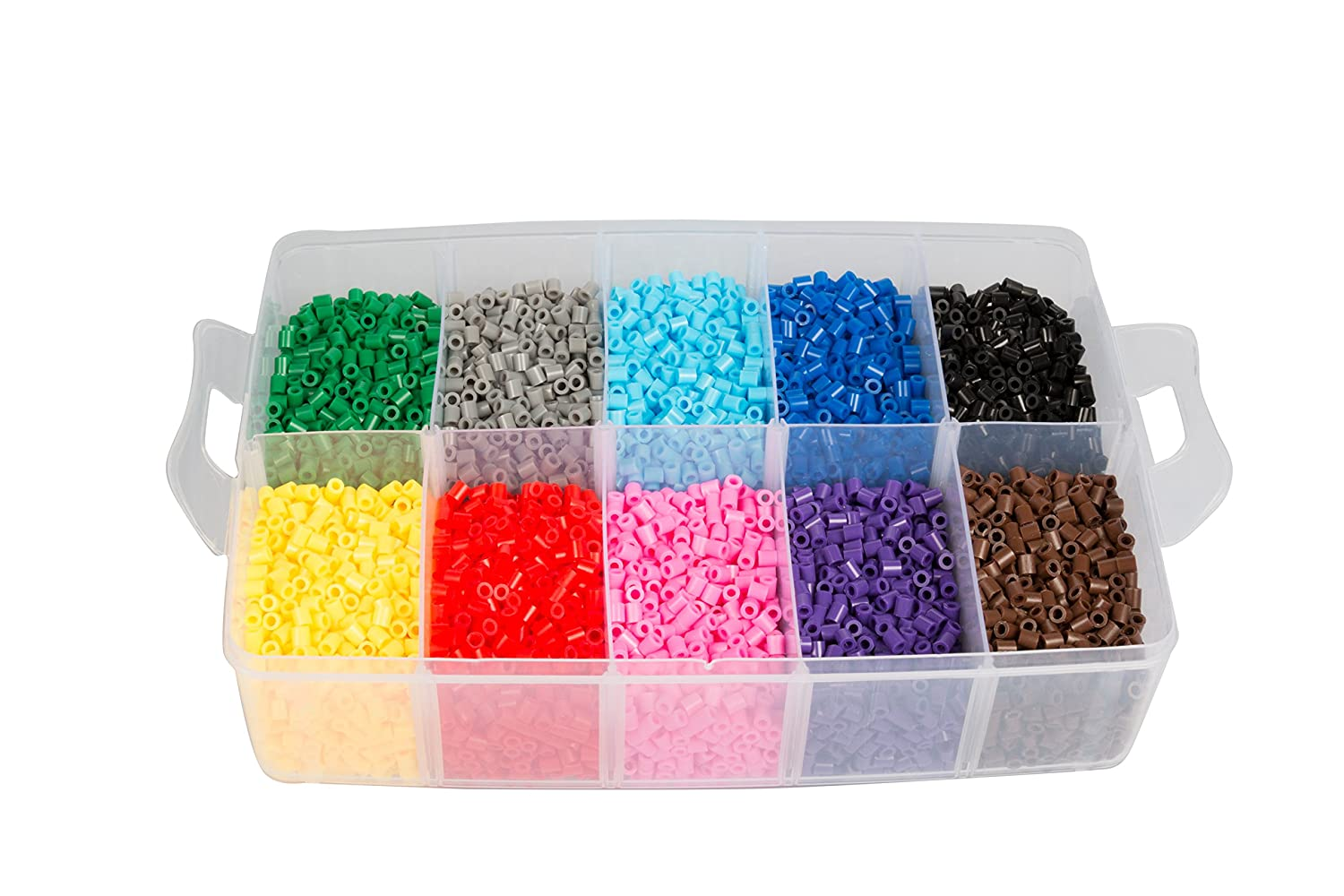 Details about 20,000 Fuse Beads - 20 colors (5 Glow in the Dark), Tweezers,  Peg Boards,