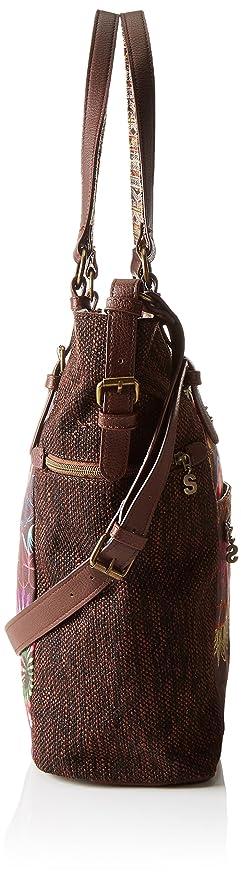 Desigual - Argentina Dakota, Bolso Bandolera Mujer, Marrón (6009), 33x36.5x13 cm (B x H x T): Amazon.es: Zapatos y complementos