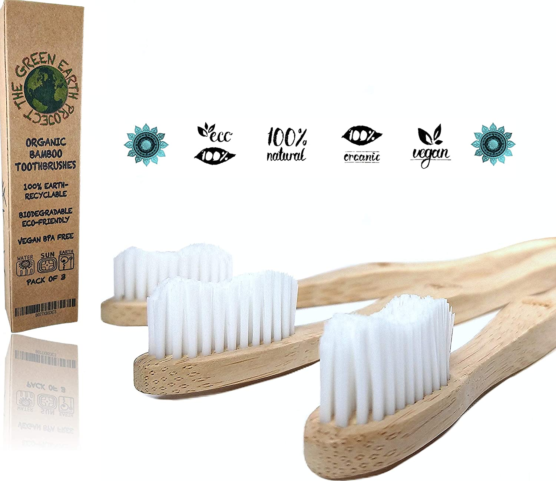 Cepillos de Dientes de Bambú Orgánicos Ecológicos y Biodegradables ...