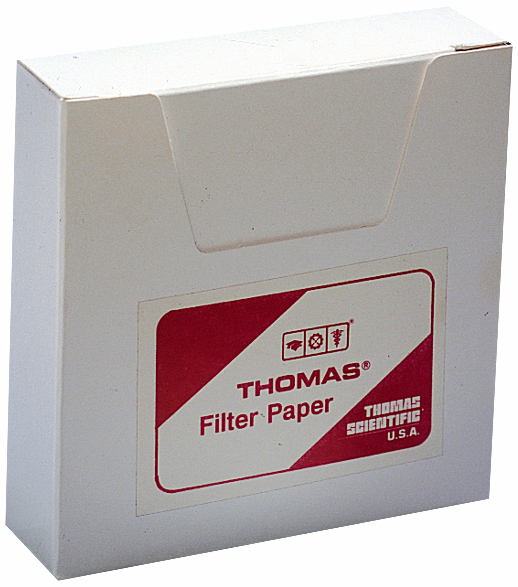 Thomas 6100-1500 Qualitative Filter Paper, 1.5 Micron, Grade, 15cm Diameter x 0.15mm Thick (Pack of 100)