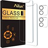 Ailun 2 Pack Screen Protector Compatible for iPhone 12 Mini [5.4 inch] with 2 Pack Tempered Glass Camera Lens Protector,Tempe
