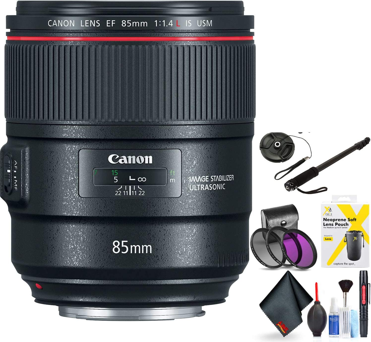 Canon EF 85mm F/1.4L is USM Lens for Canon 6D, 5D Mark IV, 5D Mark III, 5D Mark II, 6D Mark II, 5Dsr, 5Ds, 1Dx, 1Dx Mark II + Accessories (International Model)