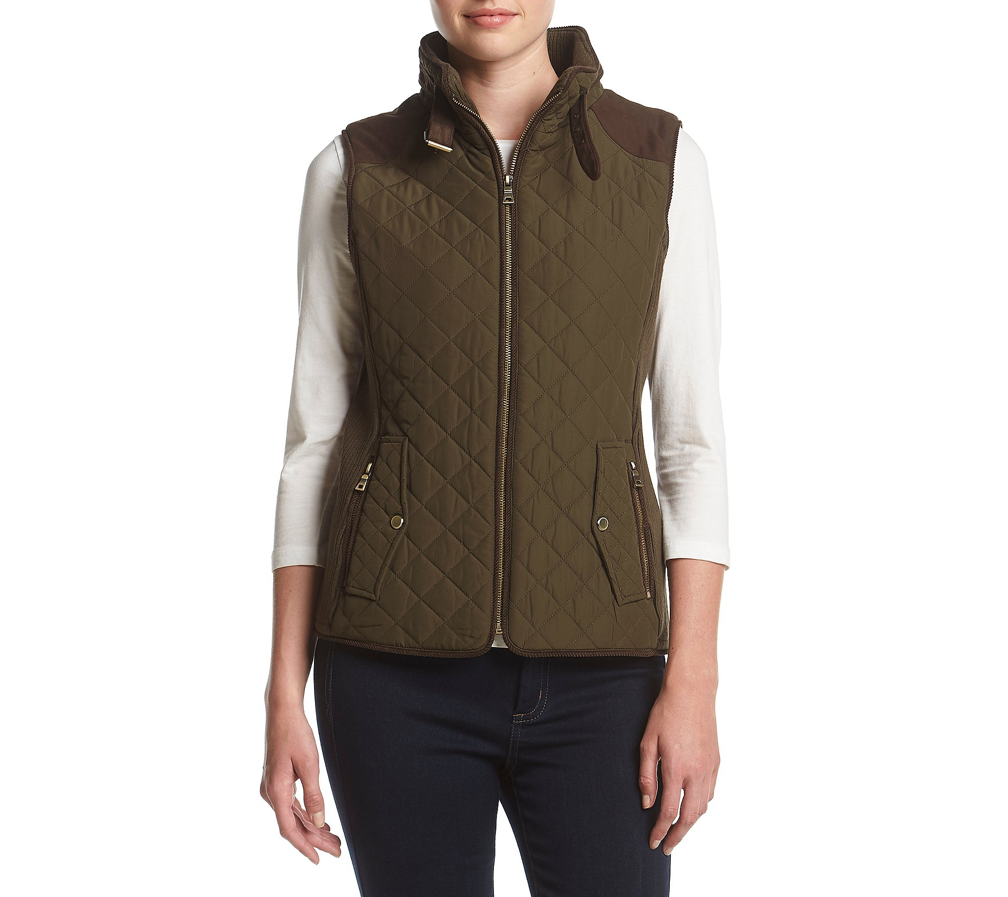Gallery Quilted Vest Fatigue X-Large