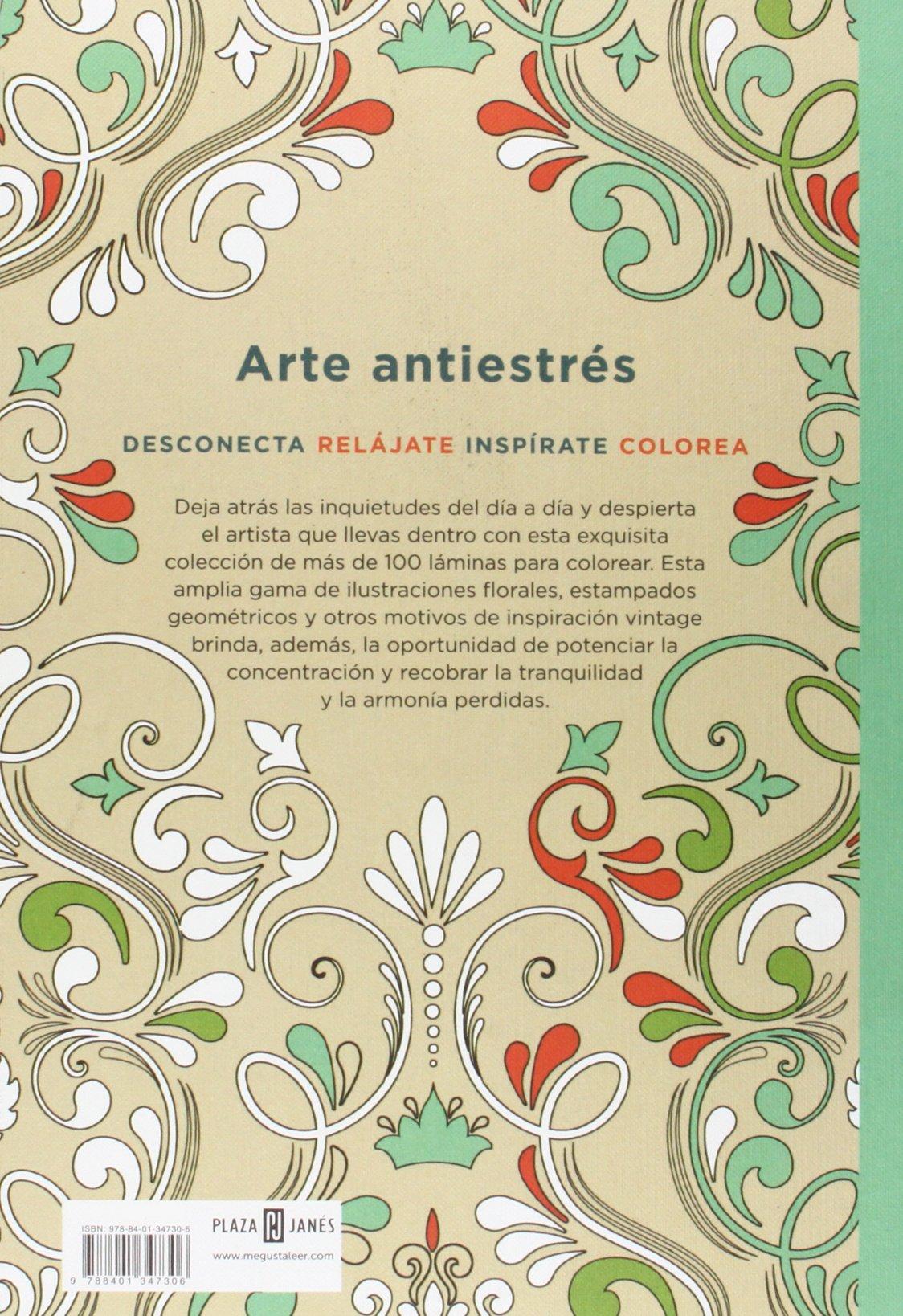 Arte antiestrés: 100 láminas vintage para colorear OBRAS DIVERSAS ...