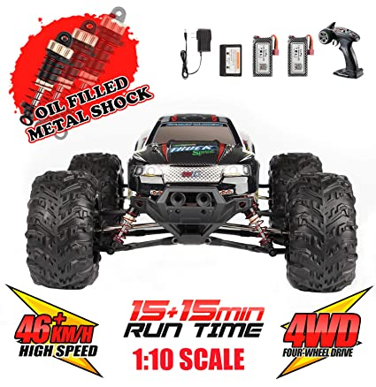 Amazon.com: Hosim Large Size 1:10 Scale High Speed 30MPH 4WD ...