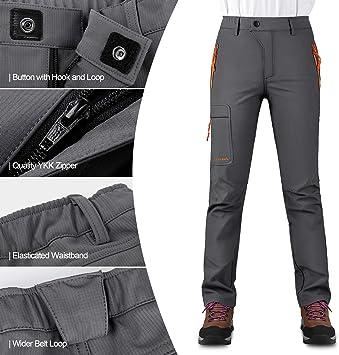 KUTOOK Pantalones Softshell Mujer Invierno Pantalones Deporte Impermeables para Monta/ña Trekking Senderismo Escalada con Forro Polar HP311