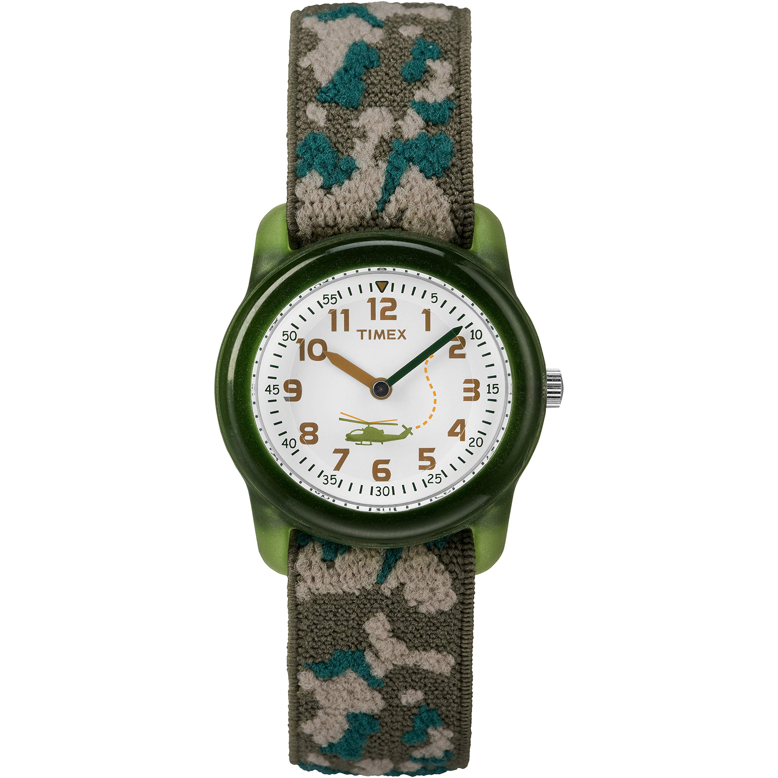 Timex Boys T78141 Time Machines Green Camo Elastic Fabric Strap Watch by Timex