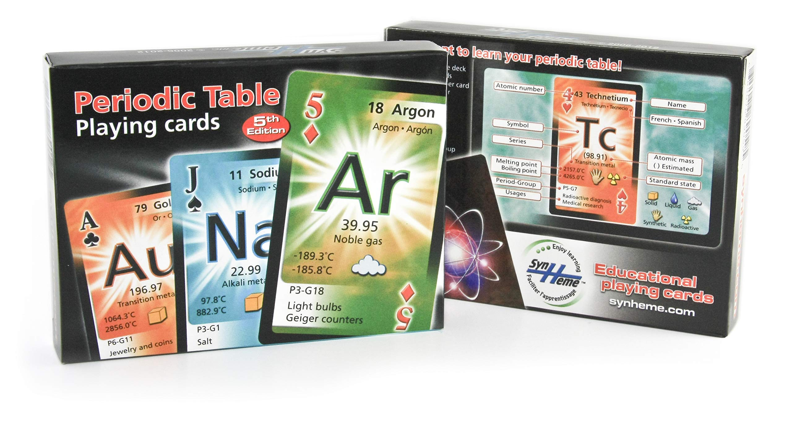 periodic table playing cards english spanish and french edition