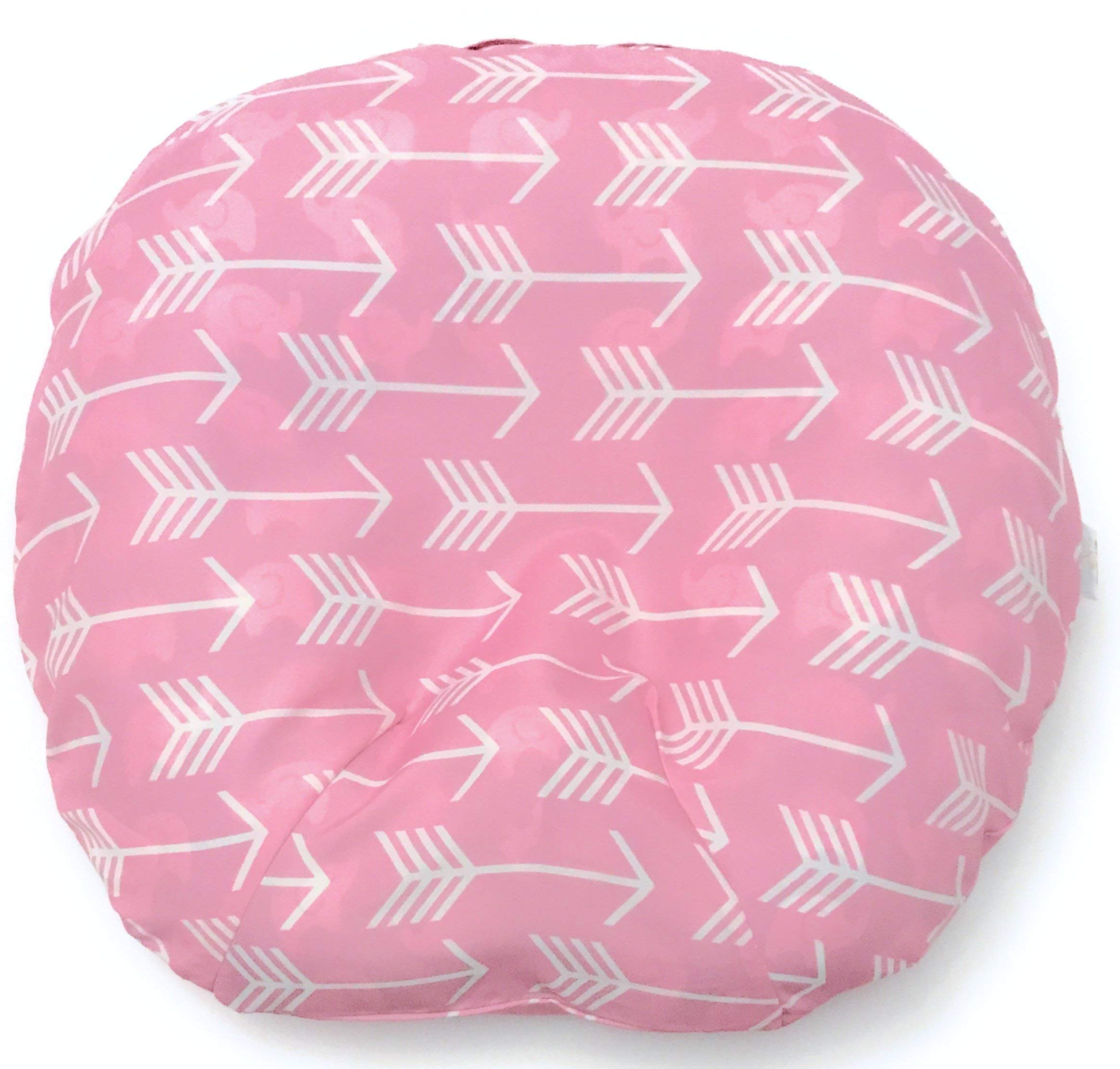 Removable Cover for Newborn Baby Lounger/Pink/Fits Boppy Lounger/Water Resistant/Hypoallergenic/Premium Quality Polyester/Easy Cleaning/Soft and Comfy/Nice Carrying Handle(Lounger Pillow Not Included)