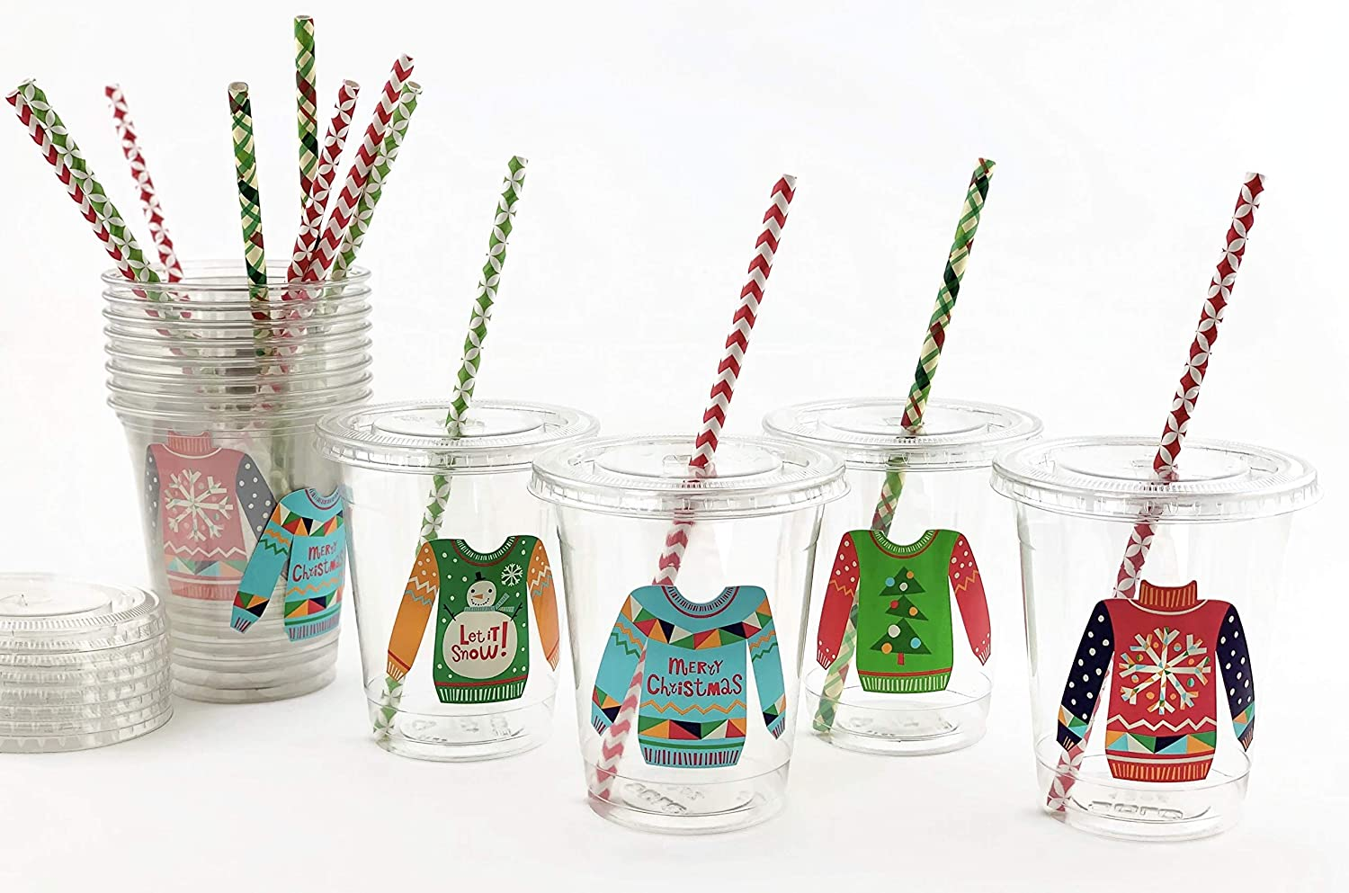 Kids Festive Drinking Tableware SANTA PAPER CUPS Christmas Party Pack of 8