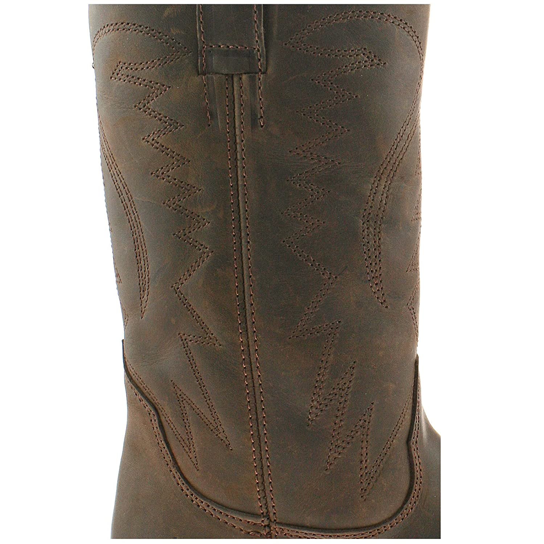 Mejor Lugar Barato Mens Wrangler Leather Cowboy Boots Size Uk 7 - 12 Tex Hi Dark Brown Wm122980k-Uk 7 (eu 41) Grandes Ofertas De Envío Gratis WlWYz