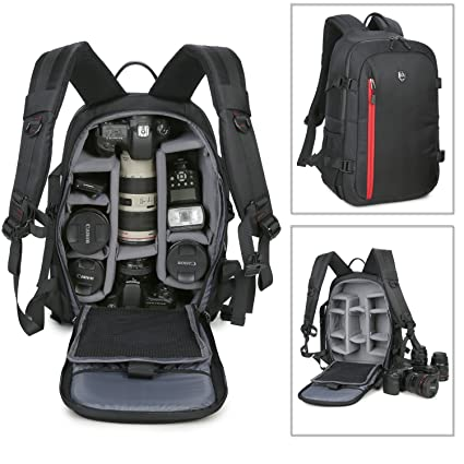 Amazon.com : Abonnyc Large DSLR Camera Backpack Bag Case / Oxford ...