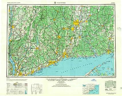 Amazon.com : YellowMaps Hartford CT topo map, 1:250000 Scale ...