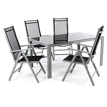 5 piezas aluminio asiento Grupo Jardín Mobiliario de jardín ...