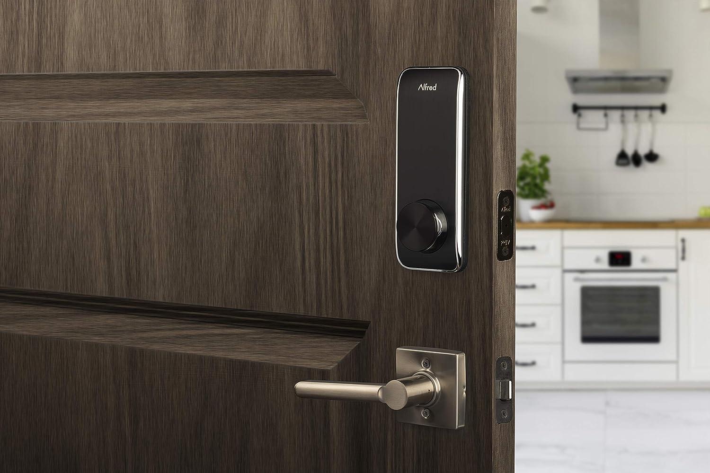 Alfred DB2-B - Cerradura inteligente para puerta (pantalla táctil, código de pin + entrada de llave + Bluetooth, hasta 20 códigos pin): Amazon.es: Bricolaje y herramientas