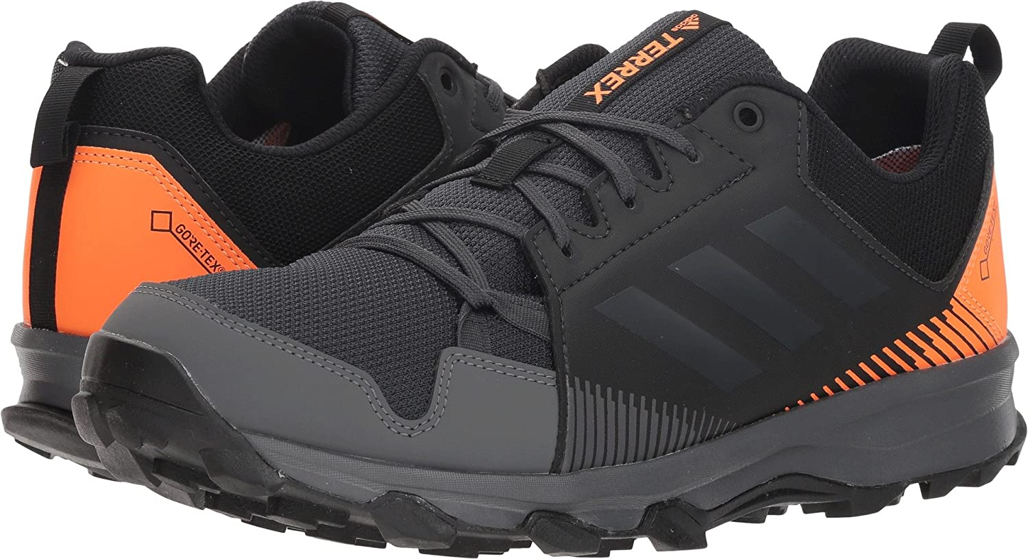 adidas outdoor Men's Terrex Tracerocker GTX Trail Running Shoe B078WFY4YJ 9 D(M) US|Black/Carbon/Hi-res Orange