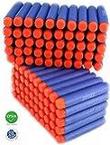 ZTOZZ Bullets Darts Hard and Soft Tip for Elite N Strike Refill Series 100pcs Pack for Kid Toy Gun Fire Blaster (Blue Hard Tips, 100pcs)