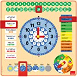 Goula - Reloj y calendario en inglés, material educativo (Diset 51307)
