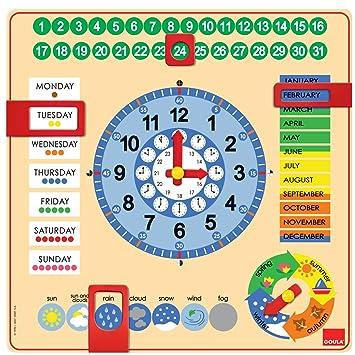 25d3770c075a Goula - Reloj y Calendario en inglés, Material Educativo (Diset 51307)