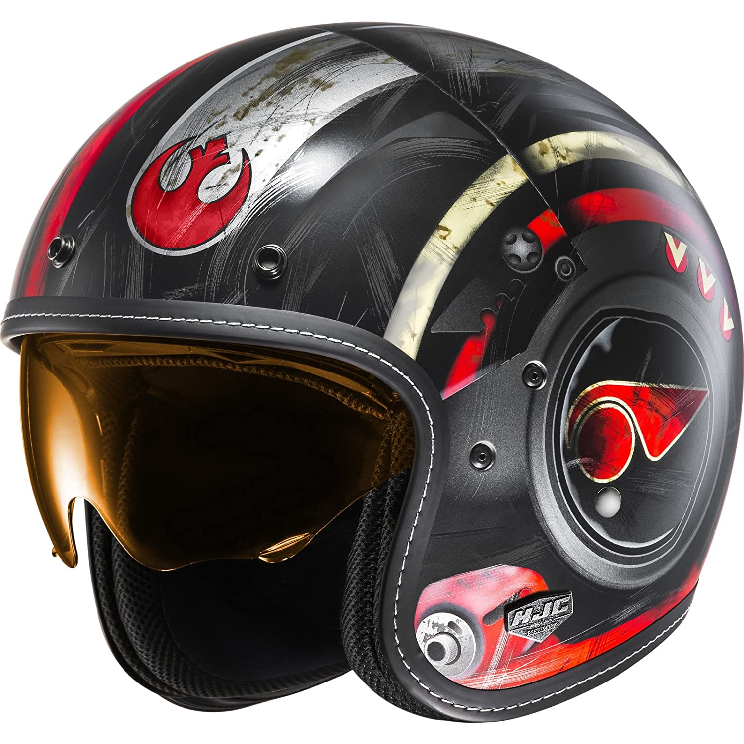 Amazon.es: Casco Abierto Moto Hjc Star Wars Fg-70 Dameron Rojo (M, Rojo)