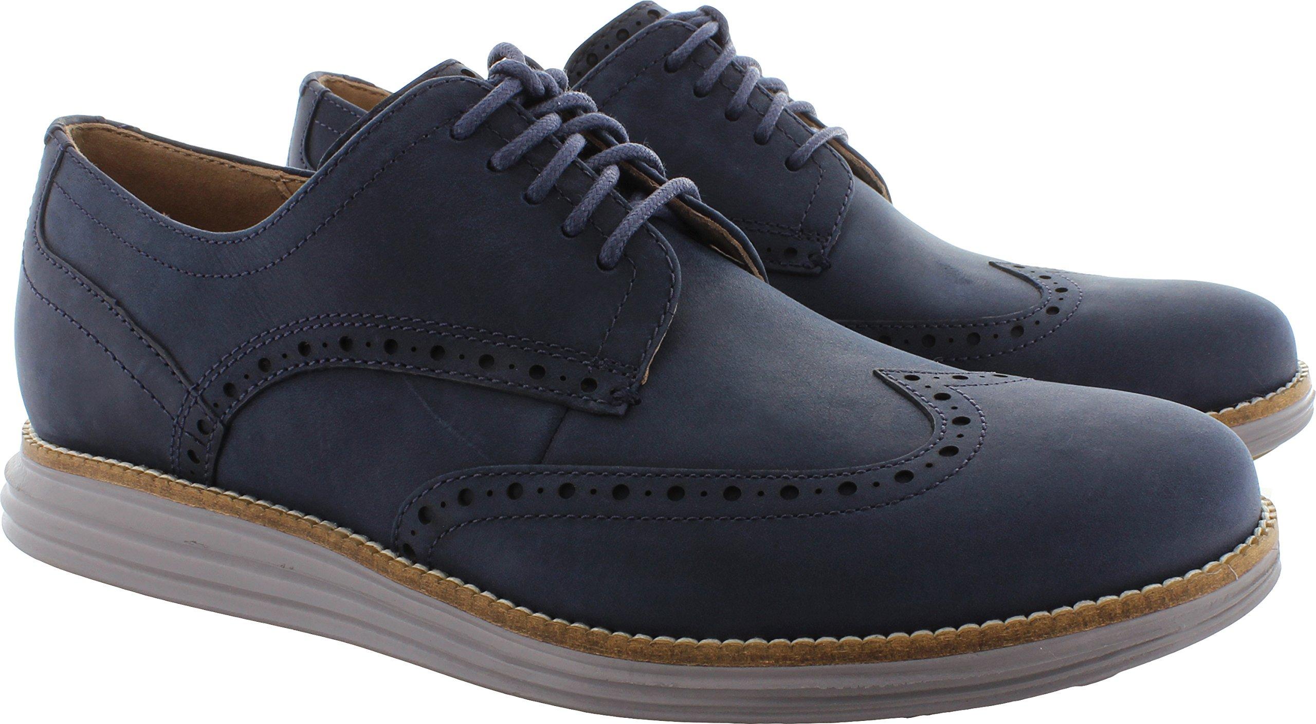 Cole Haan Men's Original Grand Shortwing Oxford, Blazer Blue/Ironstone, 11 Medium US
