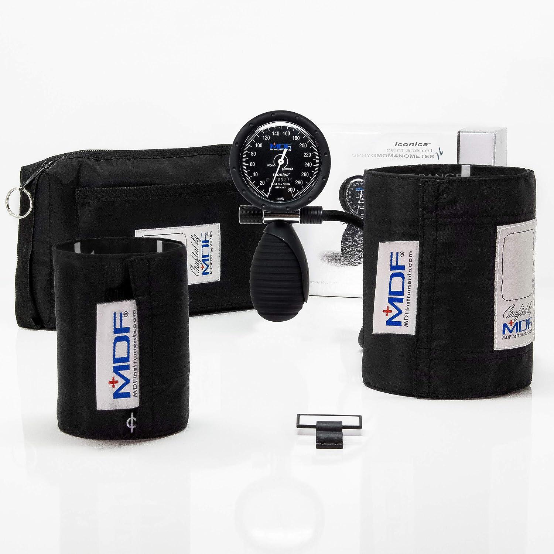 MDF® Iconica® Palm Esfigmomanómetro aneroide - Monitor profesional de presión arterial - Negro (MDF848IC-11): Amazon.es: Salud y cuidado personal