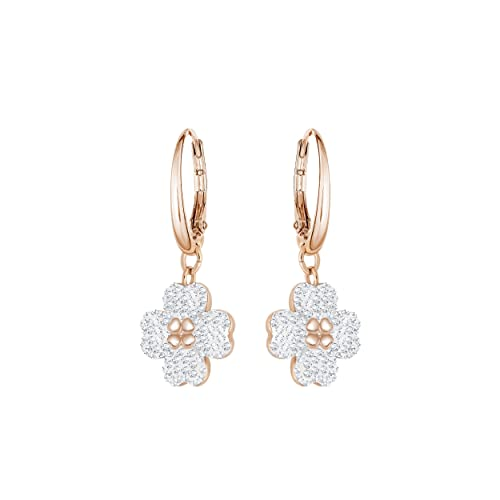 13948127f Swarovski Latisha Pierced Earrings, White, Rose gold plating: Amazon.co.uk:  Jewellery