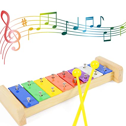 xylophone for kids xylophone musical toy with 2 mallets 8 note metal keys tuned by