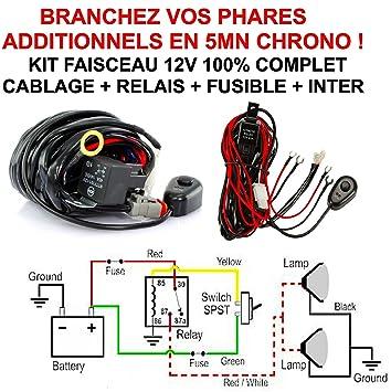Haz completo de 12V (relé fusible interruptor de cableado). Conecte