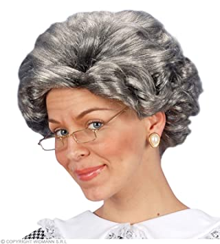 Grey Agatha Granny Wig (peluca)