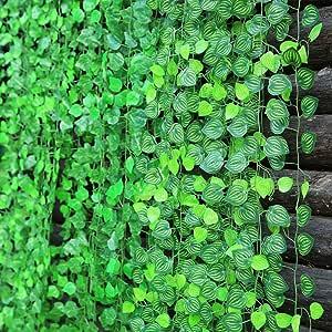2M Ivy Leaf Garland Green Plant Plastic Vine Foliage Home Windon Garden Decor bt