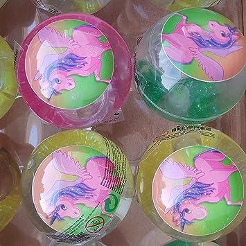 LED Unicornio flummi pelota de goma luz grande XL aprox. 65 mm ...