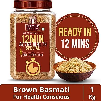 India Gate Brown Basmati Rice, 1kg