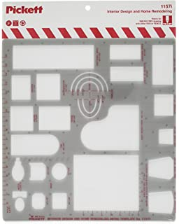 Pickett Interior Design And Home Modeling Template 1 2 Inch Scale 1157I