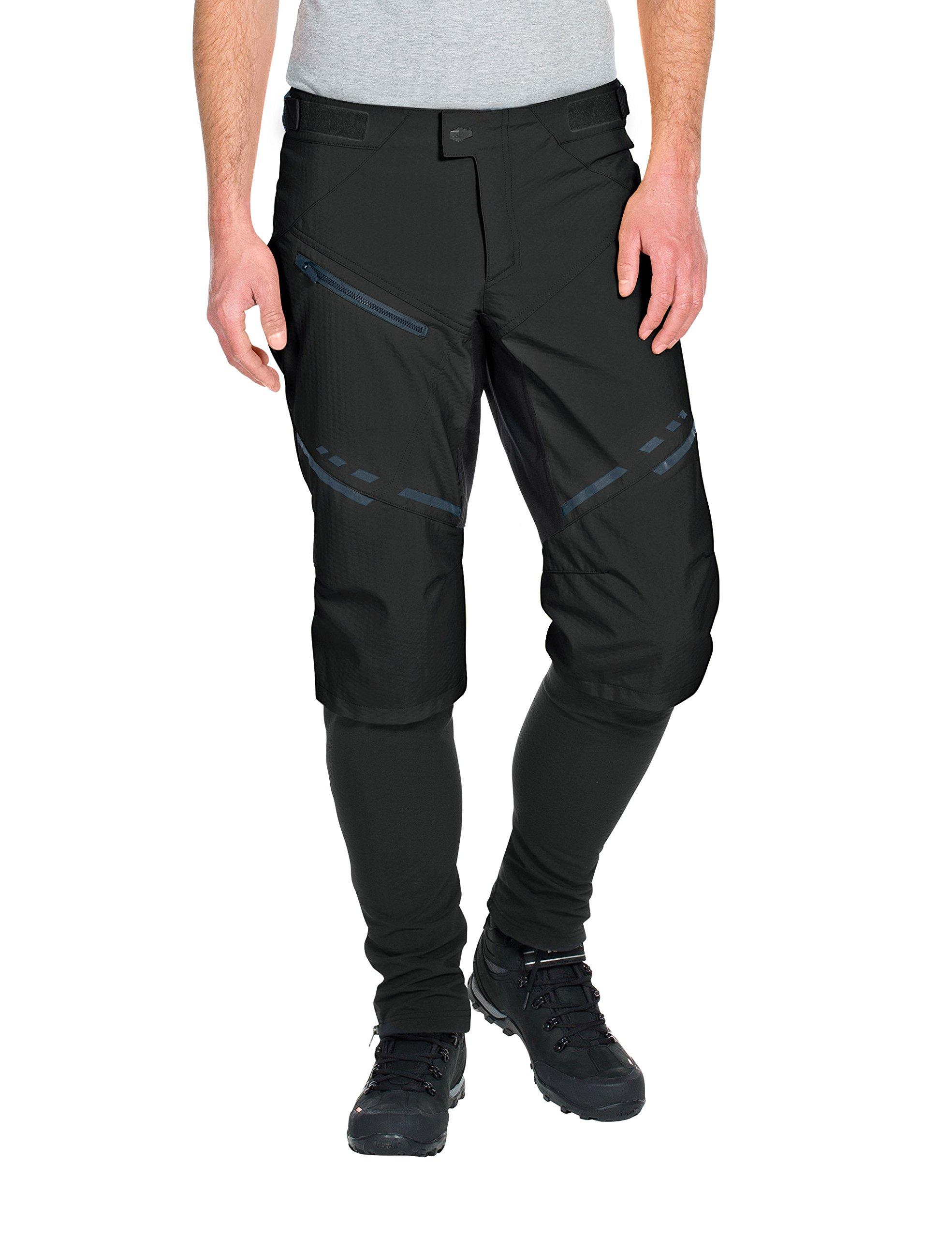 VAUDE Men's Virt Softshell Pants II, Black, Small