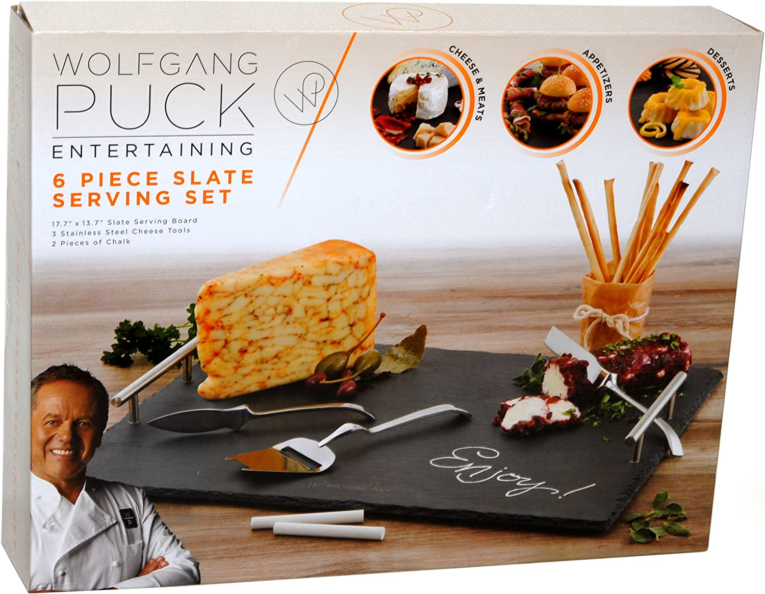 Wolfgang Puck 6-Piece Slate Serving Set