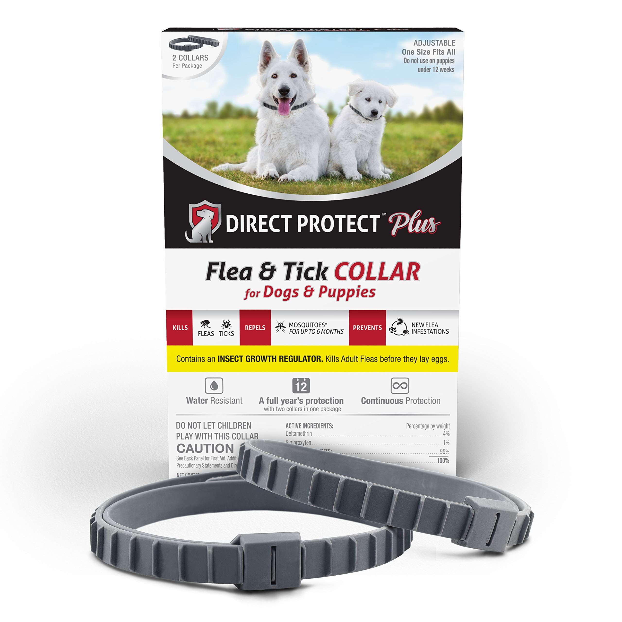 Direct Protect Plus Flea & Tick Collars Dogs & Puppies