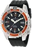 Momentum Men's 1M-DV06O8B M1 Deep 6 Orange Bezel Black Ribbed Rubber Watch