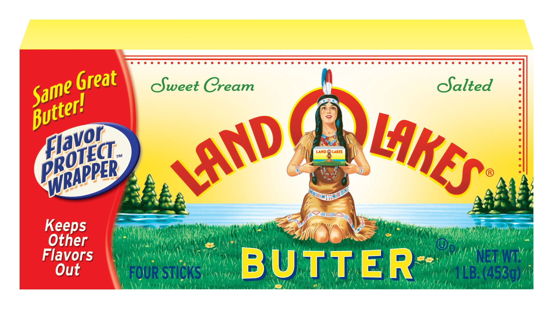 LAND O LAKES BUTTER SALTED SWEET CREAM 16 OZ PACK OF 2