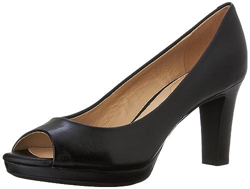 Geox D MARIECLAIRE HIGH E Scarpe col tacco donna Nero BLACK C9999 38