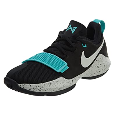 52a28a7637f3 Nike Paul George PG 1 GS Big Kids Shoes Black Light Aqua Light Bone