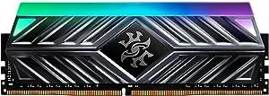 XPG Spectrix D41 RGB DDR4 3200MHz 16GB (2x8GB) 288-Pin CL16-20-20 PC4-25600 Desktop U-DIMM Memory Retail Kit Grey (AX4U320038G16A-DT41)