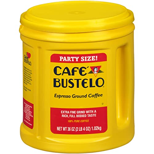 Café Bustelo Espresso Ground Coffee, 36 oz Party Size Canister