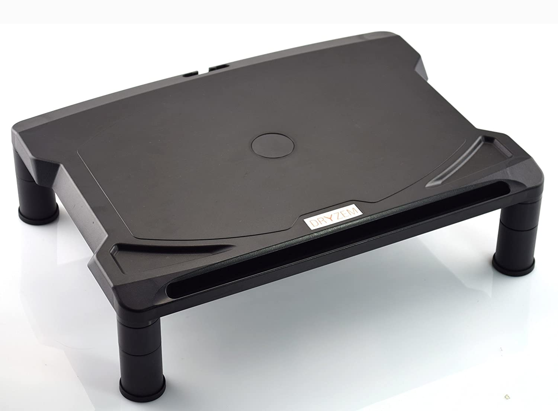 DRYZEM, supporto regolabile per portatile e monitor del computer, per ordinare la scrivania. 40 cm x 29,5 cm. Colore: nero CAJCOM Ltd