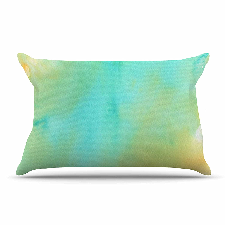 36 by 20-Inch Kess InHouse Li Zamperini Mint Teal Green King Pillow Case 36 X 20