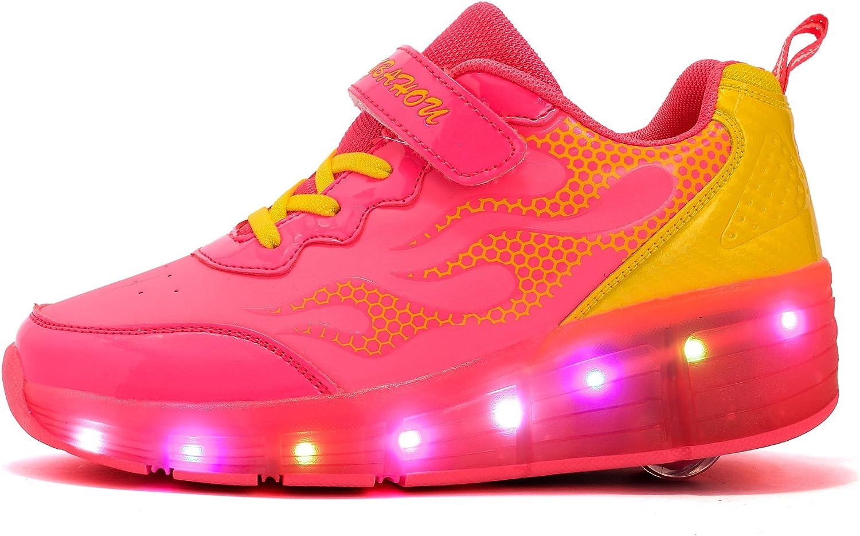 Mr.ANG luces LED parpadeantes Roller Skates – Zapatos de deporte Niños Chicos Y Chicas – Zapatos de Skate con los zapatos de Skate Ont una rueda zapatillas de running, Hombre, K06, K06