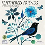 Feathered Friends 2020 Wall Calendar: Watercolor